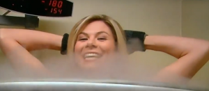 Jessica Dean from CBS tries Cryotherapy!